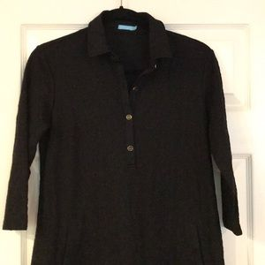 Black textured collared dress: OPEN TO OFFERS